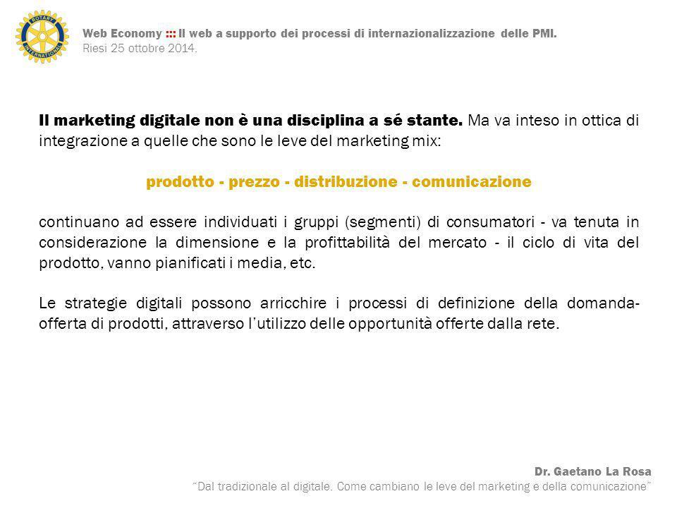prodotto - prezzo - distribuzione - comunicazione