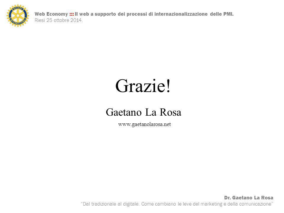 Grazie! Gaetano La Rosa www.gaetanolarosa.net