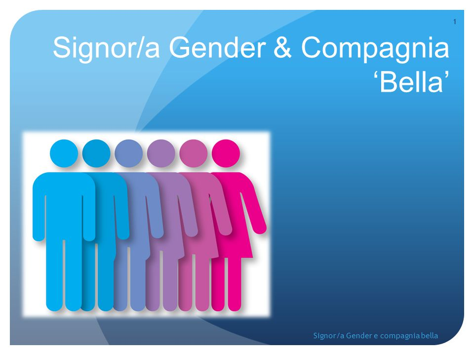 Signor/a Gender & Compagnia 'Bella'