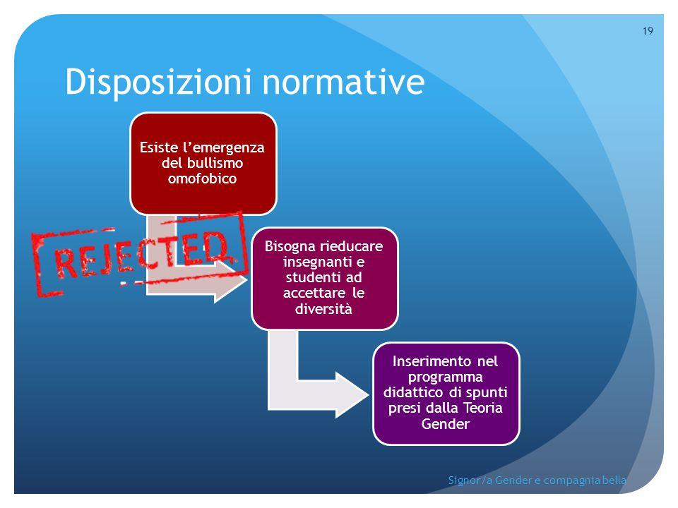 Disposizioni normative