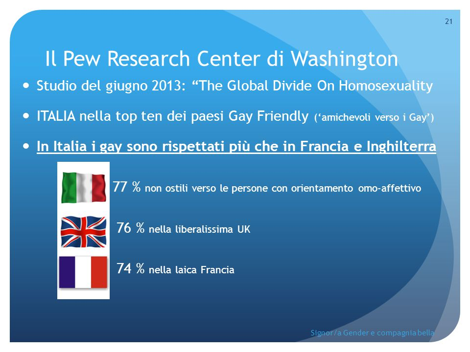 Il Pew Research Center di Washington