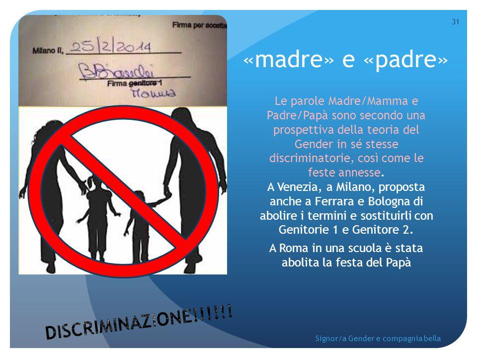 A Roma in una scuola è stata abolita la festa del Papà