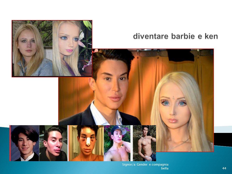 disformismo diventare barbie e ken Signor/a Gender e compagnia bella