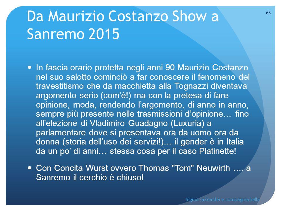 Da Maurizio Costanzo Show a Sanremo 2015