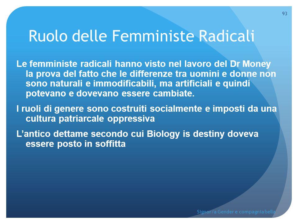 Ruolo delle Femministe Radicali