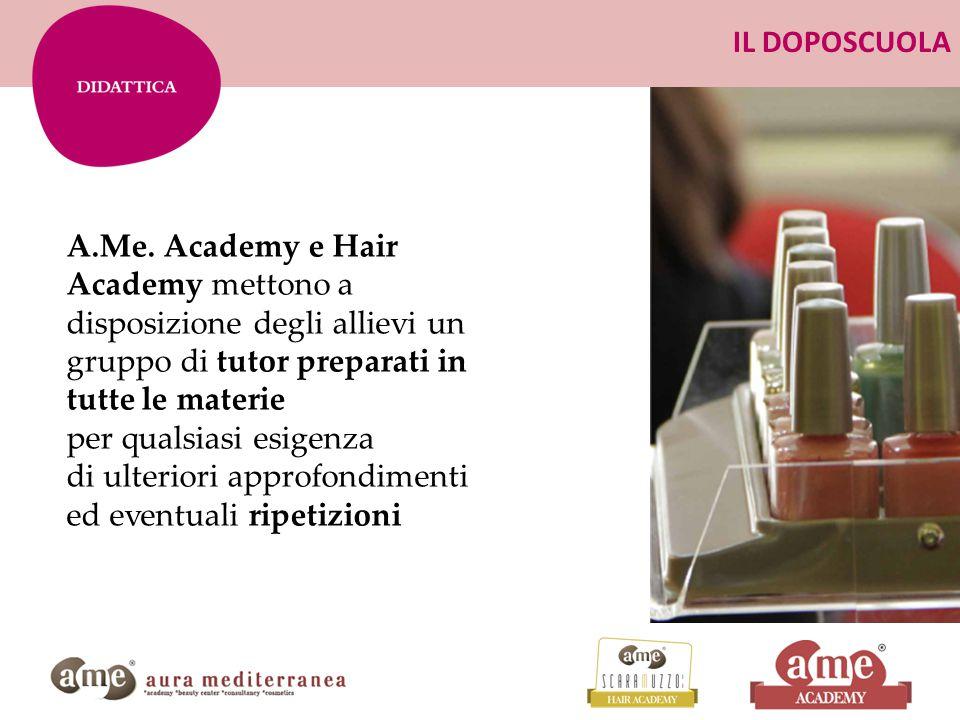 IL DOPOSCUOLA A.Me. Academy e Hair Academy mettono a disposizione degli allievi un gruppo di tutor preparati in tutte le materie.