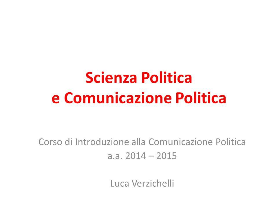 Scienza Politica e Comunicazione Politica