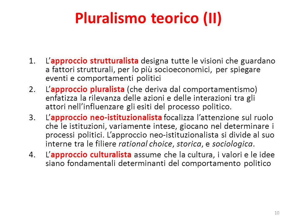 Pluralismo teorico (II)