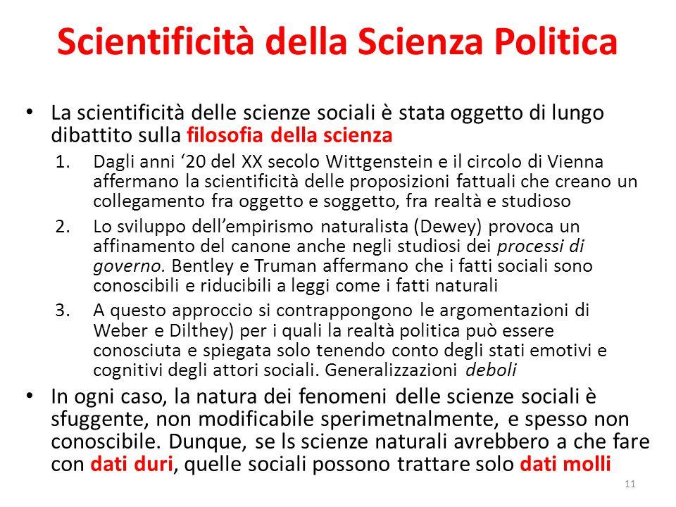Scientificità della Scienza Politica