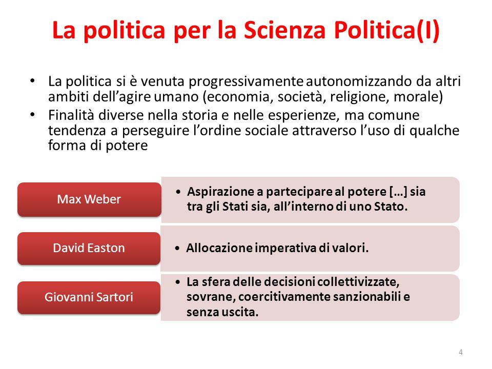 La politica per la Scienza Politica(I)