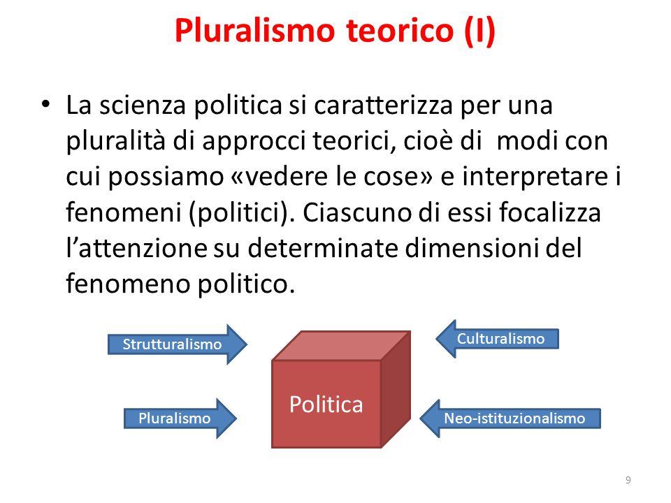Pluralismo teorico (I)