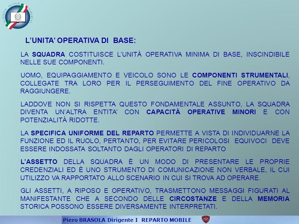 L'UNITA' OPERATIVA DI BASE: