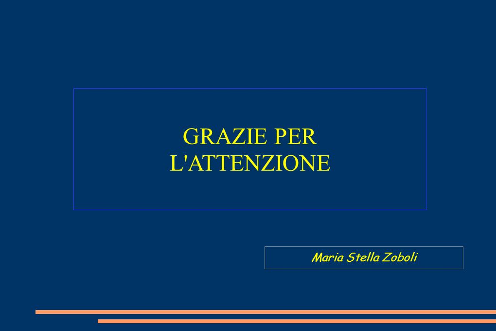 GRAZIE PER L ATTENZIONE Maria Stella Zoboli