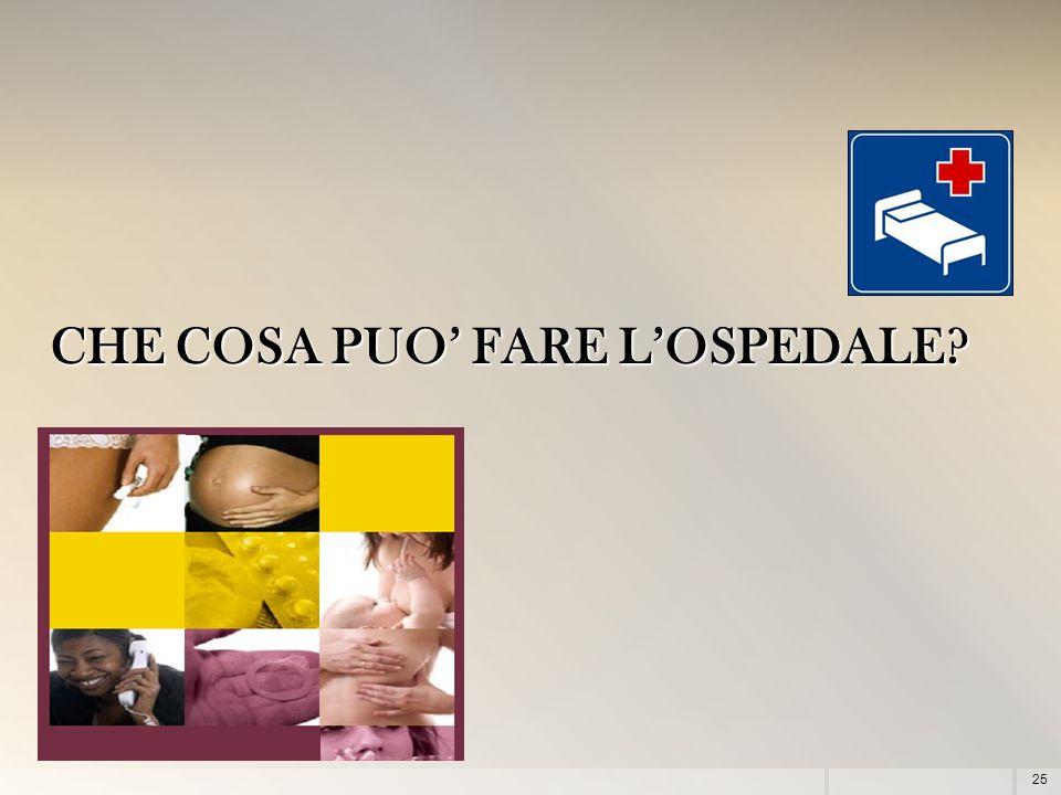 CHE COSA PUO' FARE L'OSPEDALE