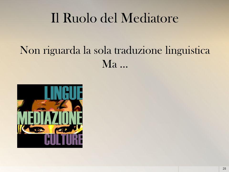 Non riguarda la sola traduzione linguistica Ma …