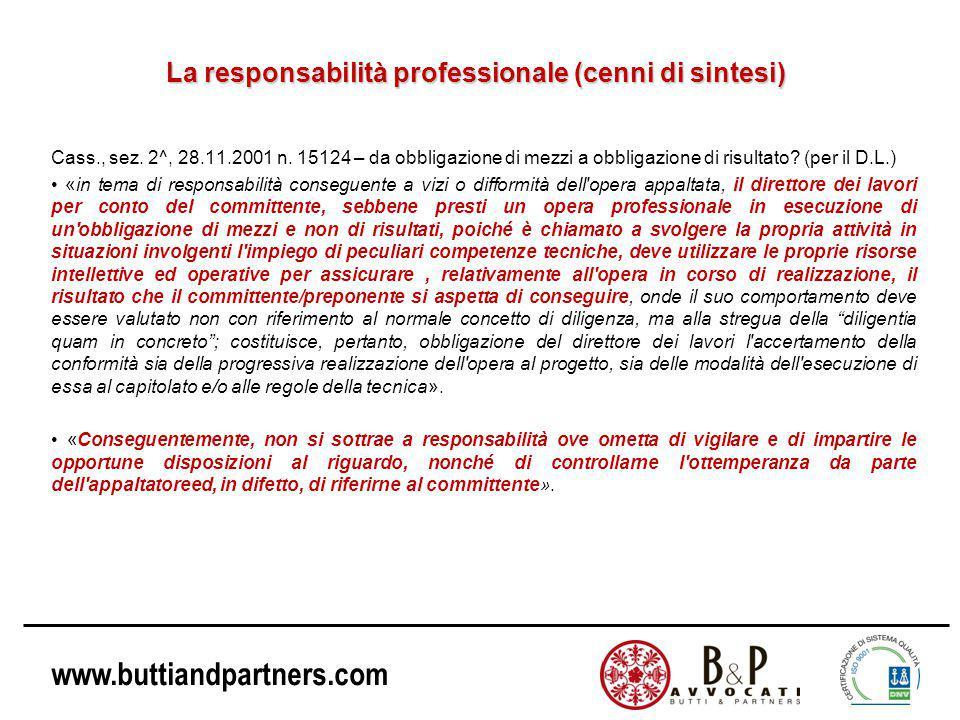 La responsabilità professionale (cenni di sintesi)