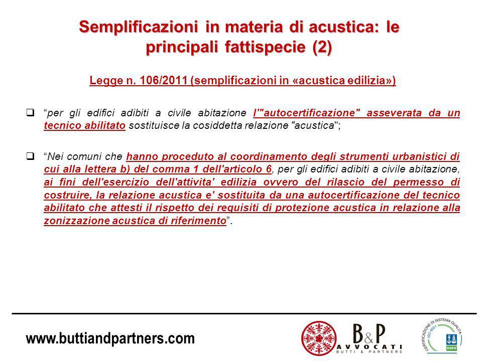 Semplificazioni in materia di acustica: le principali fattispecie (2)