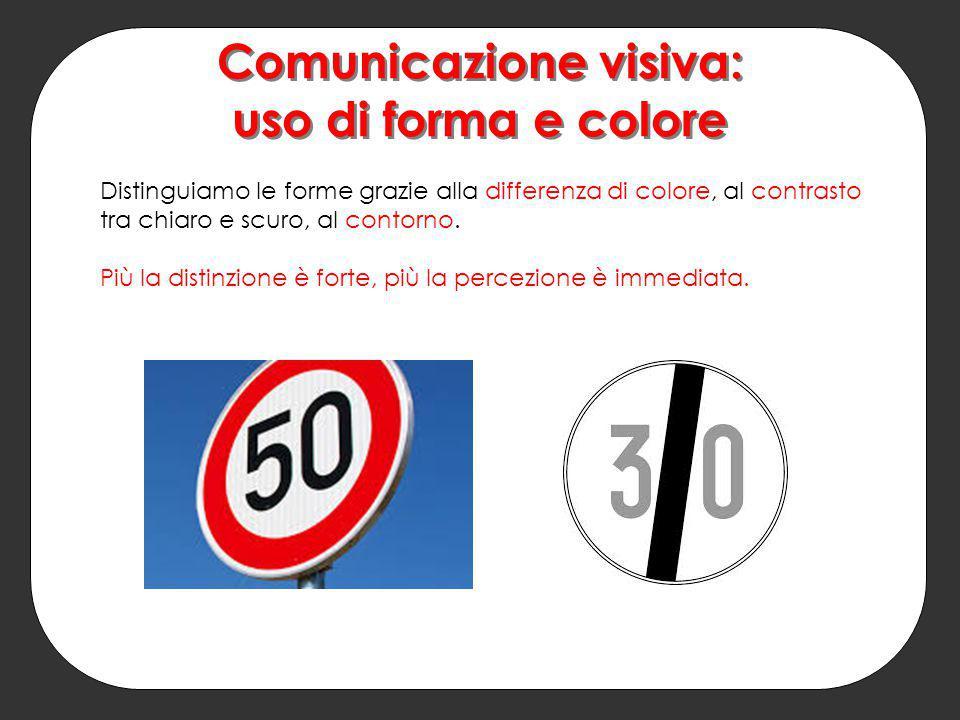 Comunicazione visiva: uso di forma e colore