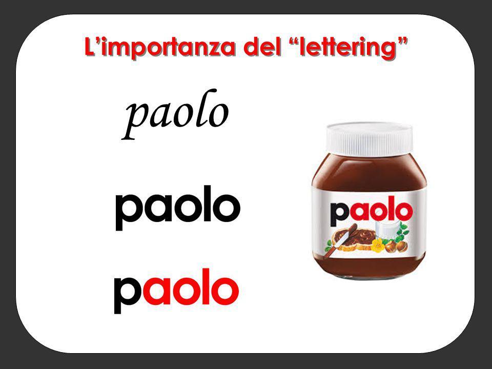 L'importanza del lettering