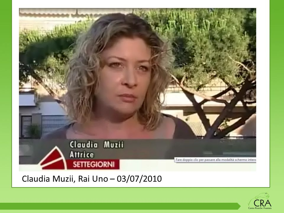 Claudia Muzii, Rai Uno – 03/07/2010