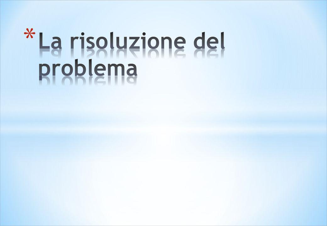 La risoluzione del problema