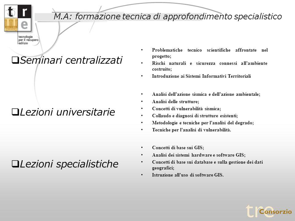 Seminari centralizzati