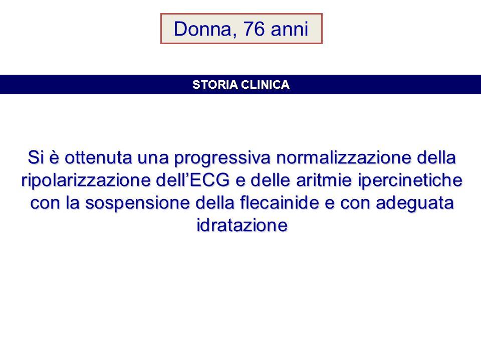 Donna, 76 anni STORIA CLINICA.