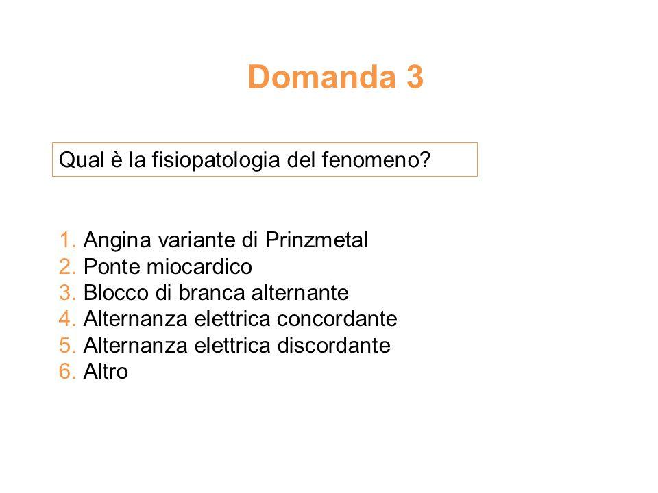 Domanda 3 Qual è la fisiopatologia del fenomeno