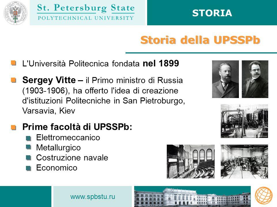 Storia della UPSSPb STORIA