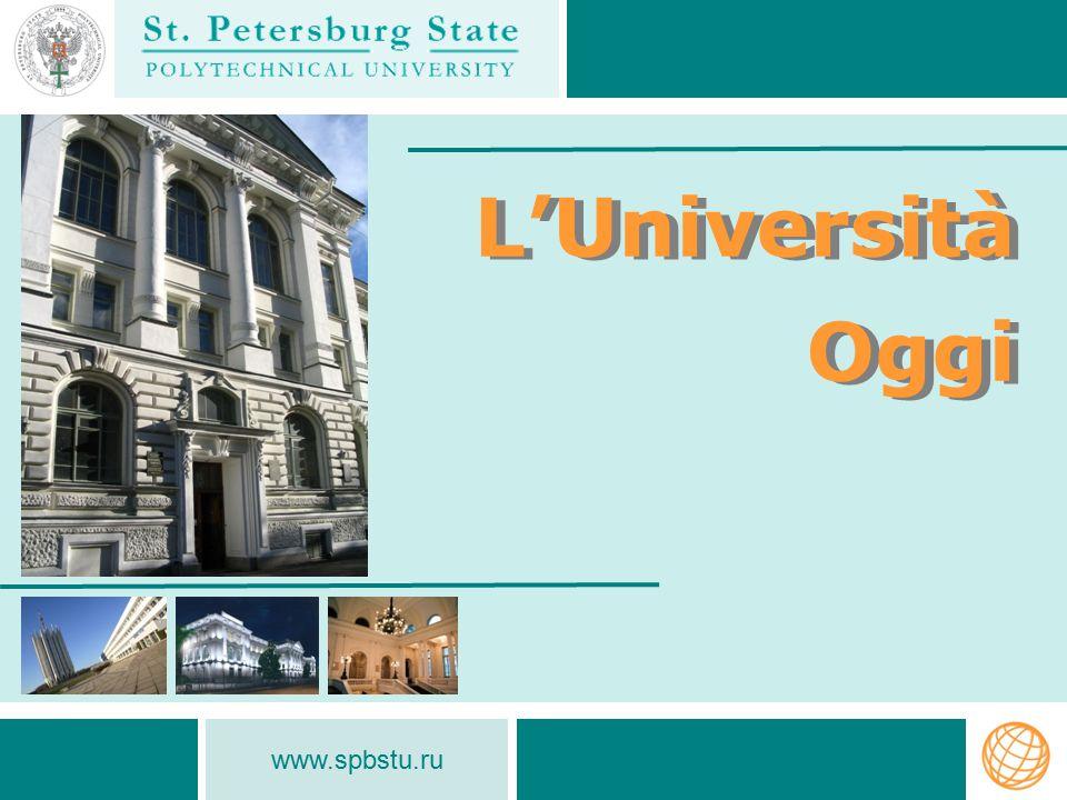 L'Università Oggi www.spbstu.ru