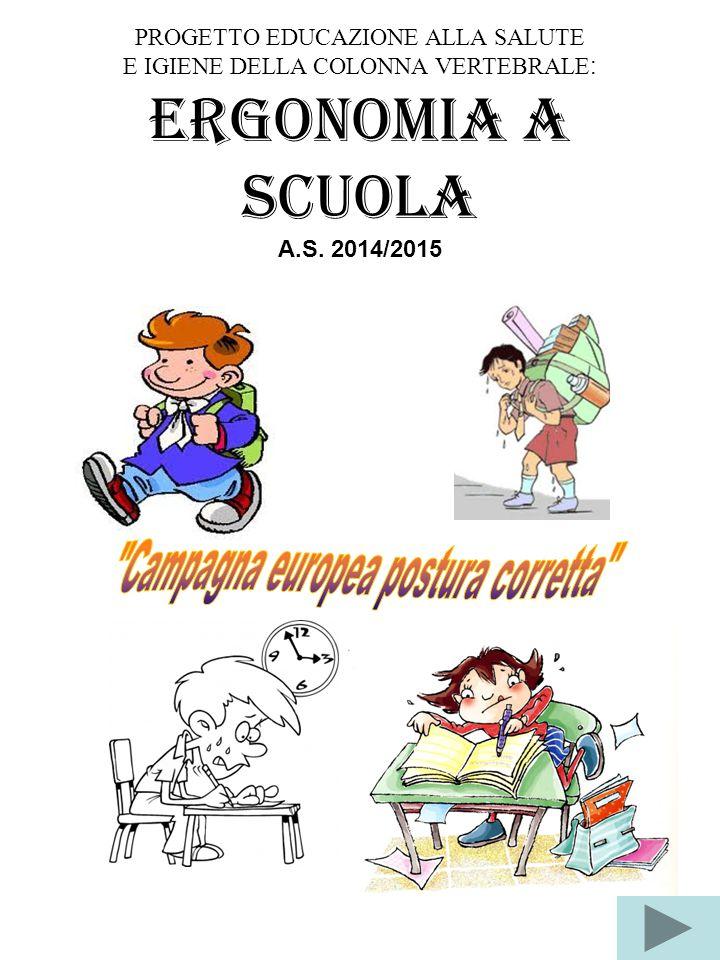 Ergonomia a scuola Campagna europea postura corretta
