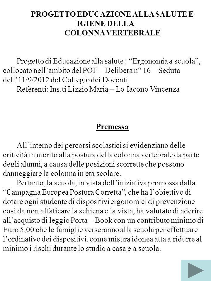 PROGETTO EDUCAZIONE ALLA SALUTE E IGIENE DELLA