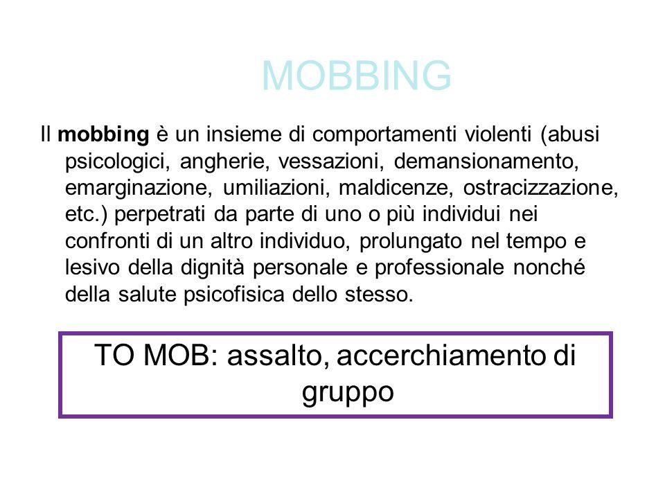 TO MOB: assalto, accerchiamento di gruppo