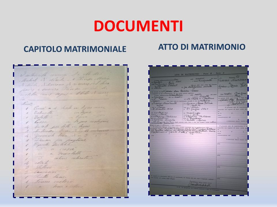 CAPITOLO MATRIMONIALE