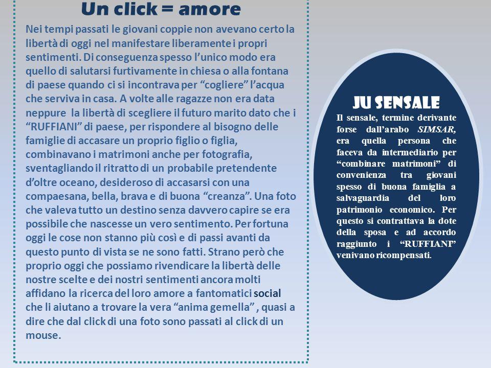 Un click = amore Ju sensale