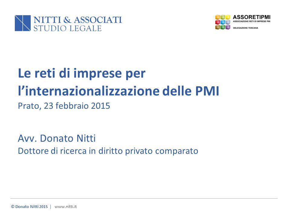 Avv. Donato Nitti Dottore di ricerca in diritto privato comparato