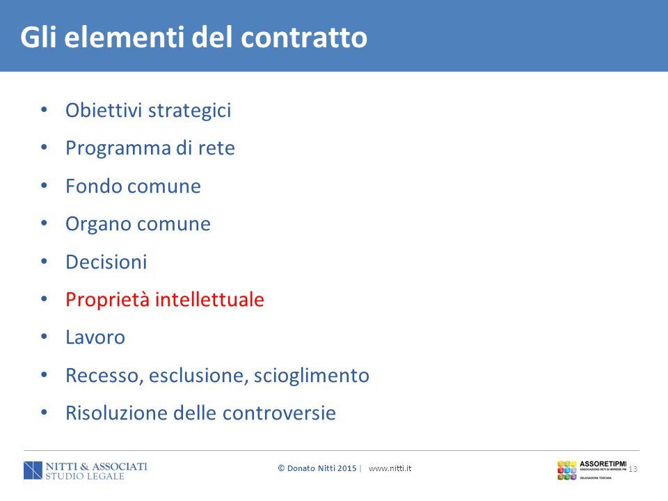 Gli elementi del contratto