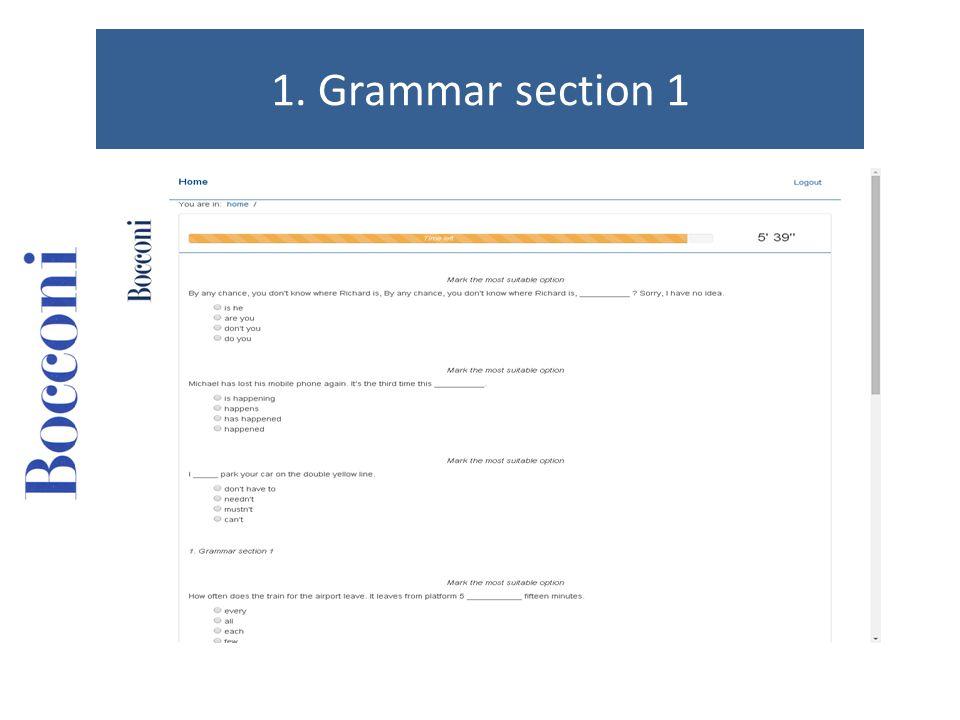 1. Grammar section 1
