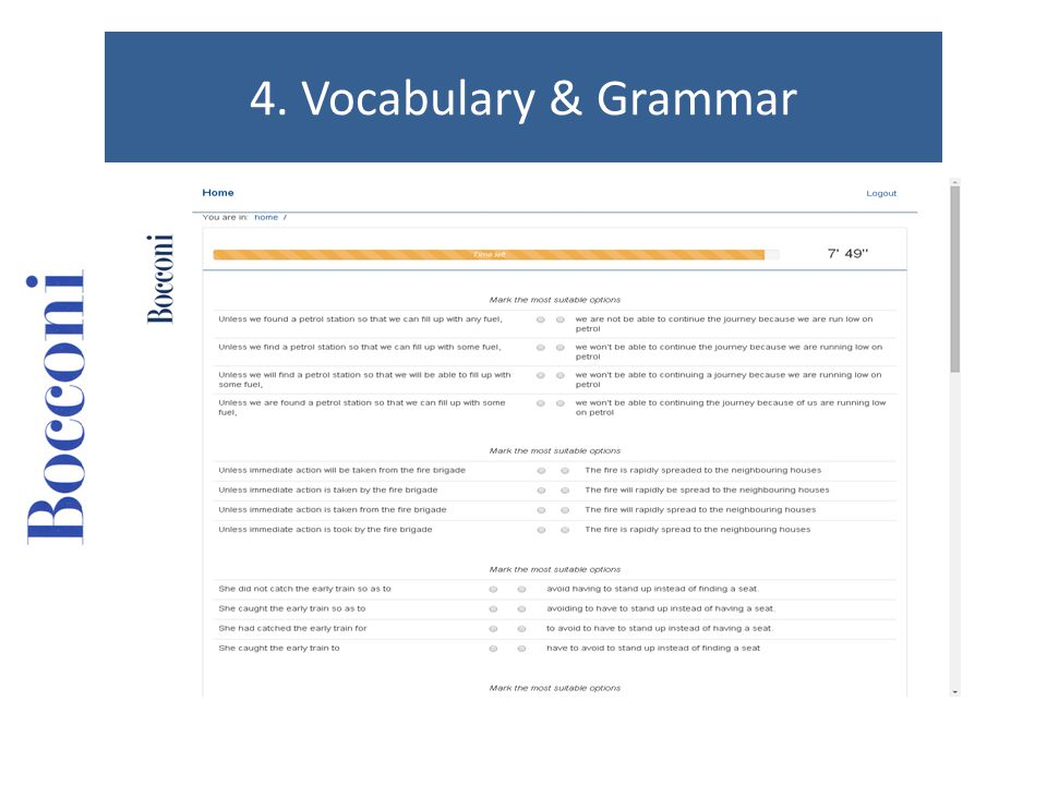 4. Vocabulary & Grammar