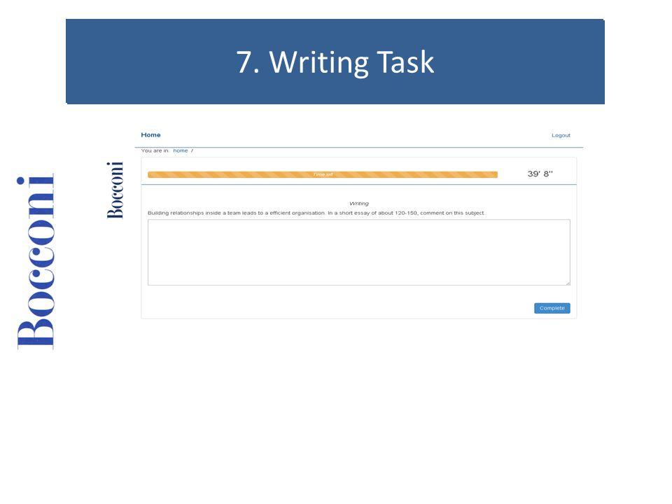 7. Writing Task 7. Writing Task