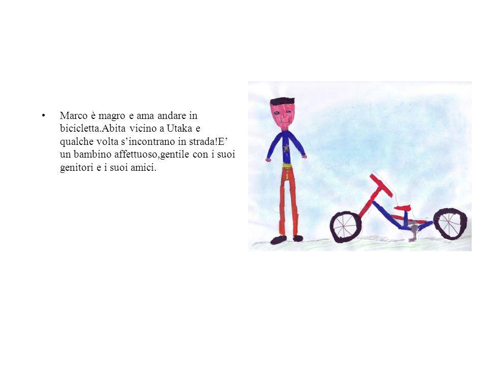 Marco è magro e ama andare in bicicletta