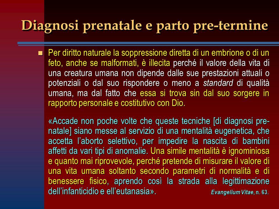 Diagnosi prenatale e parto pre-termine