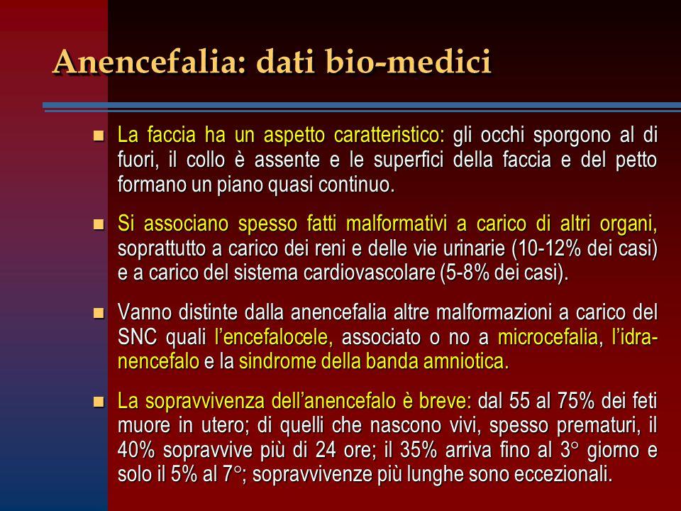 Anencefalia: dati bio-medici