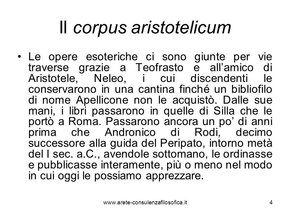 Il corpus aristotelicum
