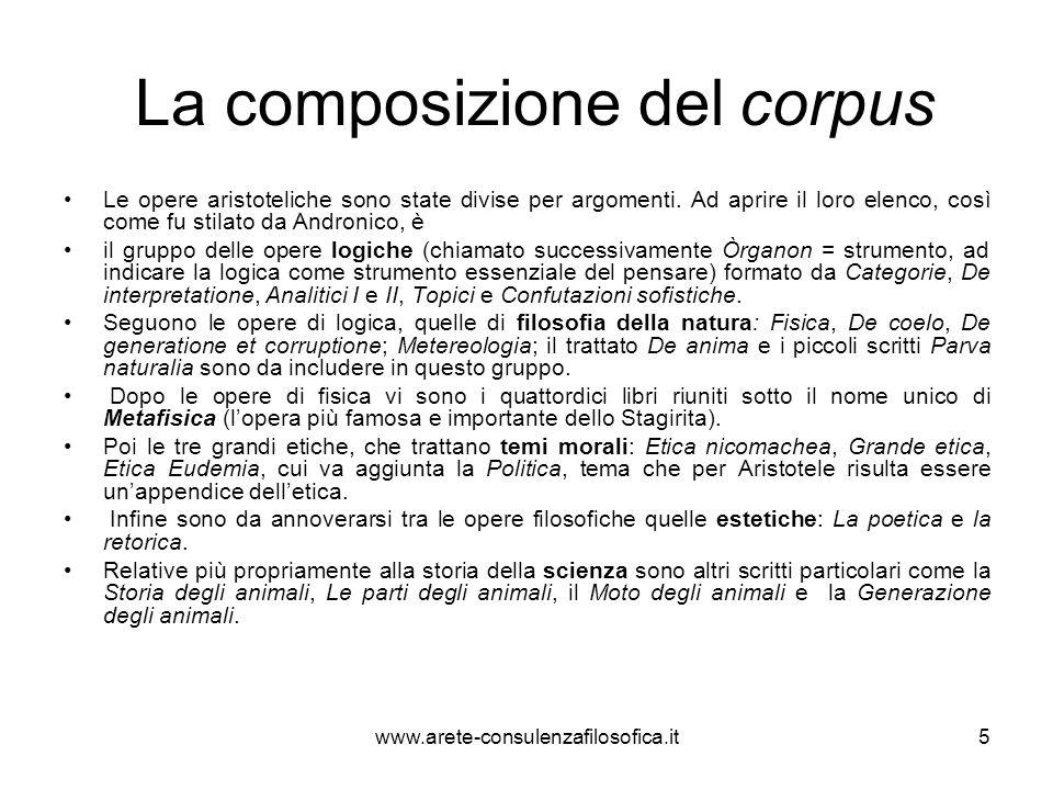 La composizione del corpus