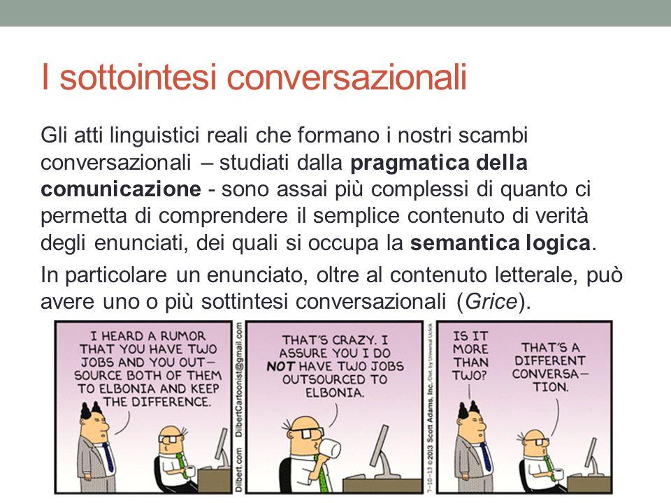 I sottointesi conversazionali