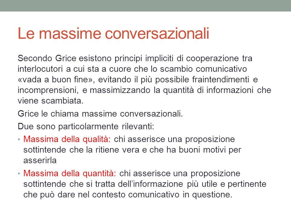 Le massime conversazionali