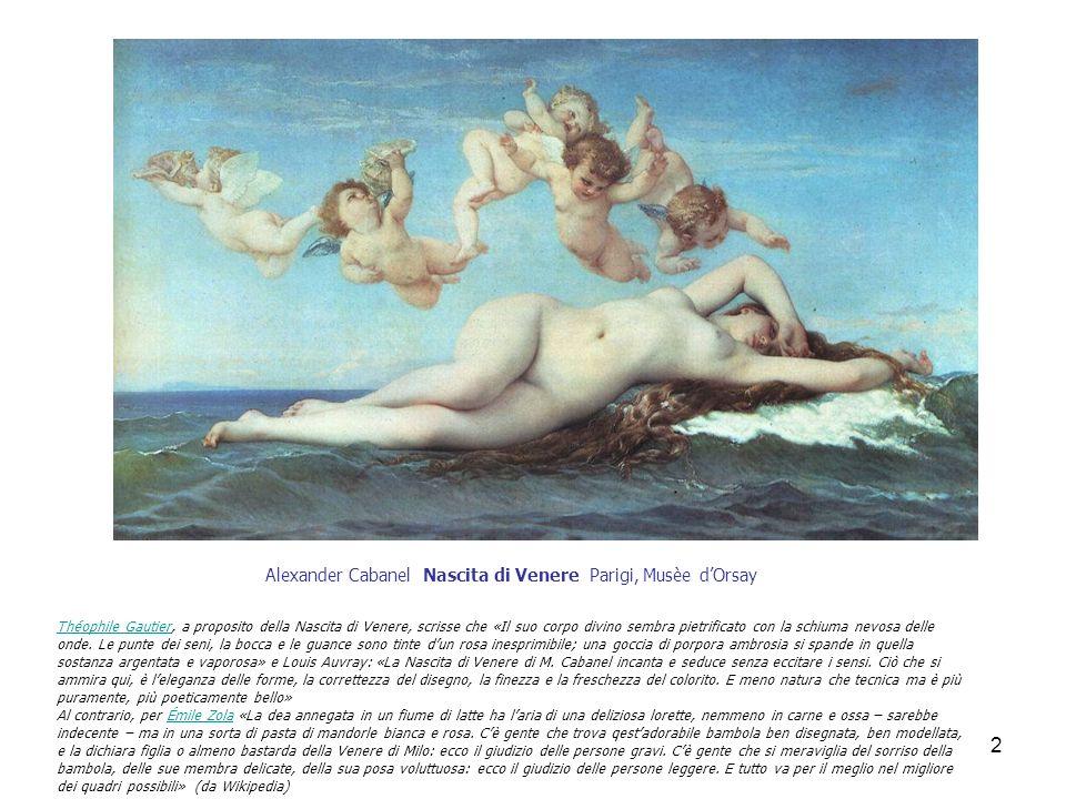 Alexander Cabanel Nascita di Venere Parigi, Musèe d'Orsay