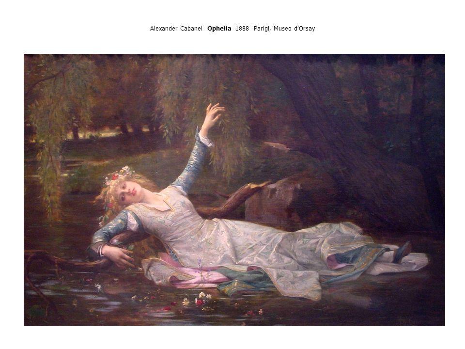 Alexander Cabanel Ophelia 1888 Parigi, Museo d'Orsay
