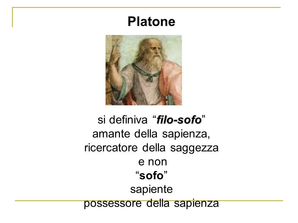 Platone si definiva filo-sofo amante della sapienza,